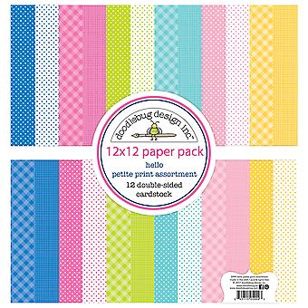 Doodlebug Design Hello 12x12 Inch Petite Print Paper Pack