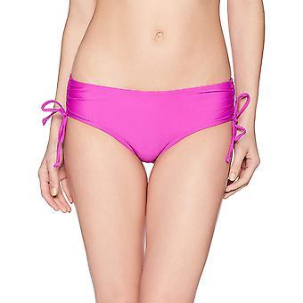 Brand - Coastal Blue Women's Swimwear Bikini Bottom, Punchy Purple, S ...