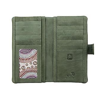 Primehide Large Womens Soft Leather Purse Wallet RFID Blocking Ladies 6503
