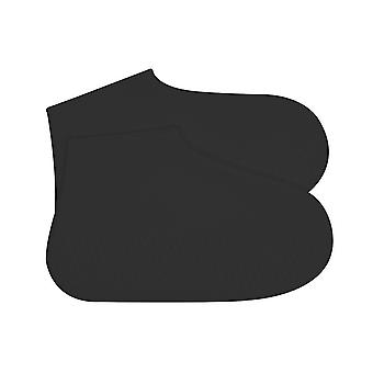 Silicone Waterproof Shoe Covers Black Medium