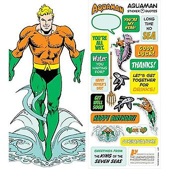 Stationery - Aquaman - Card and Sticker Sheet New 4407