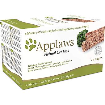 Applaws Cat Pate multi Pack csirke bárány & lazac 7x100g