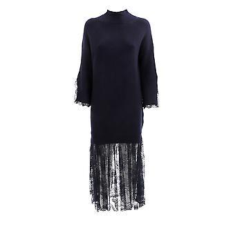 Ermanno Scervino Ab26vis99 Mujeres's vestido de viscosa negro