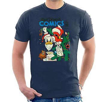 Disney Christmas Donald Duck Som Julenissen Menn's T-Skjorte