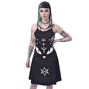 Vixxen - pisica mistica - rochie patinator, negru