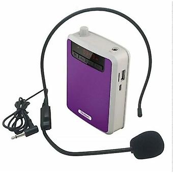 Portable Voice Amplifier Megaphone Booster Wired Microphone Loudspeaker Fm Radio Mp3