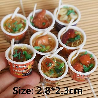 Miniature Dollhouse Bucket Fast Food For Kids - Kitchen Pretend Girl Toys Accessories