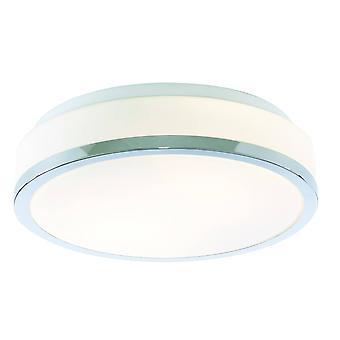 Zoeklicht schijven - Badkamer Flush 2 Licht plafond Chroom, Opaal IP44, E27