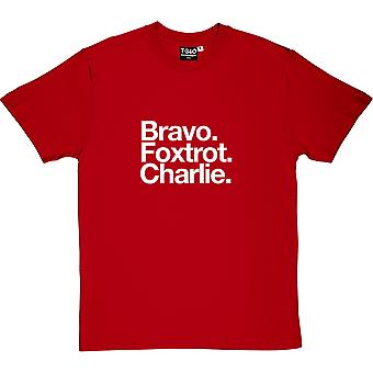 Blackpool FC: Bravo Foxtrot Charlie Red Men's T-Shirt