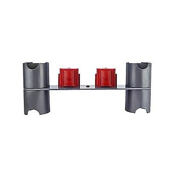 Gray ABS Plastic Vacuum Cleaner Wall-mounted Storage Rack