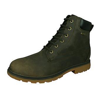 Geox U Akim B ABX B menns Lær vanntette støvler/sko-Chestnut