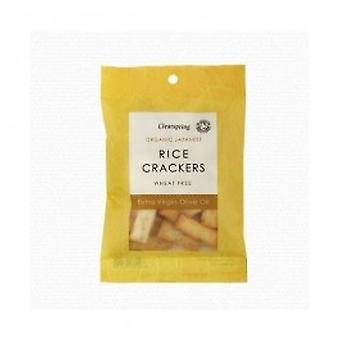 Clearspring - Org Rice Crackers Olive Oil 50g