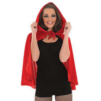 Womens Red Riding Hood Cape Fancy Dress Costume Accessory