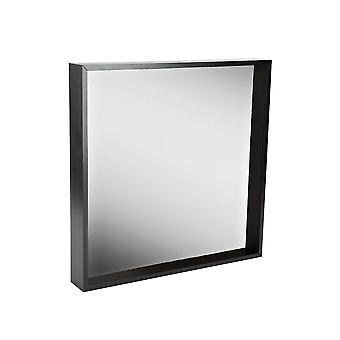 2 Piece Box Mirror Frame Set - 16 x 16 Square Acrylic Frame - Black