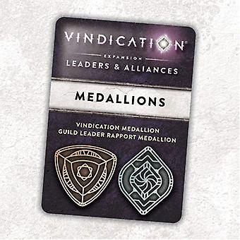 Vindication Metal Threshold Medallions