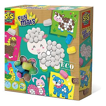 Ses Creative Children-apos;s Funmais Eco Mosaic Farm Animals Set (24957)