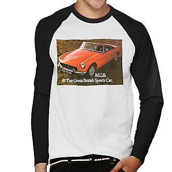MG The Great British Sports Car British Motor Heritage Men's Baseball Long Sleeved T-Shirt