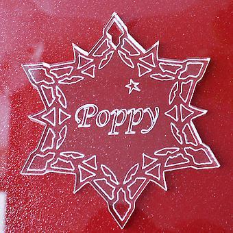 パーソナライズされたスノーフレークアクリルクリスマスの装飾