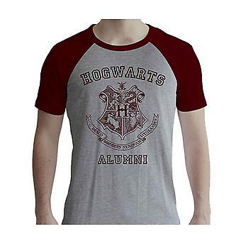 Harry Potter T Shirt Alumni uusi virallinen mens harmaa & punainen