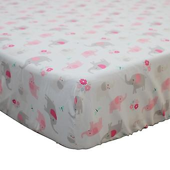 Cotton Fitted Sheet Soft Ademend Baby Bed Matras Cover- Protector Cartoon