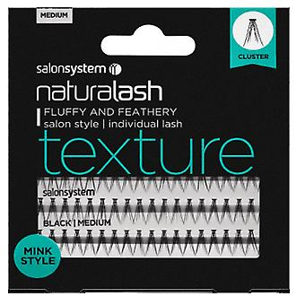 Salon System  Naturalash - Texture -  Individual Lashes - Mink (medium Black)