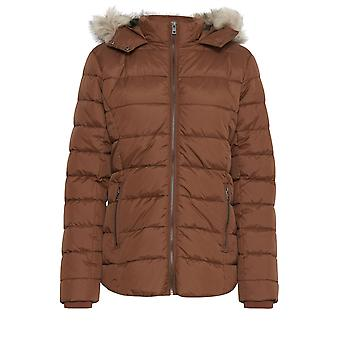 b.young Bomina Tan Quilted Coat