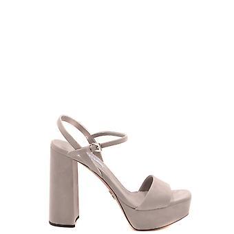 Prada Ezbc021058 Women's Grey Suede Sandals