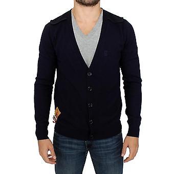 Galliano Blue wool cardigan sweater