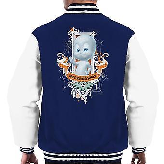 Casper The Friendly Ghost Too Ghoul For School Men's Varsity Jacket