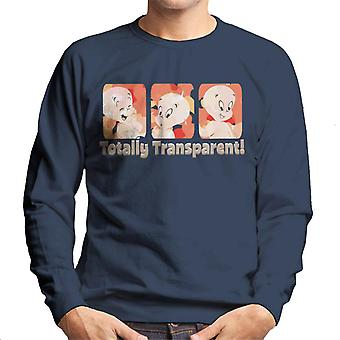 Casper The Friendly Ghost Totally Transparent Men's Sweatshirt