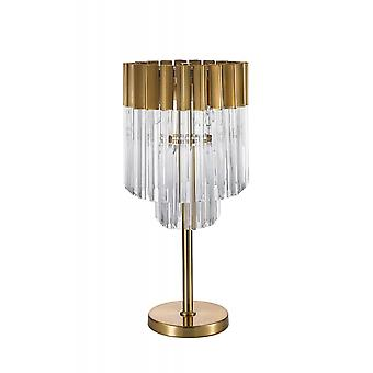 Rachel Table Lamp 3 Light E14, Brass/glass