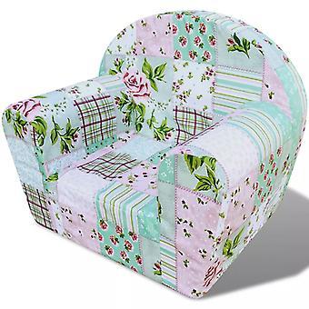 Fotel dziecięcy kwiatowy wzór