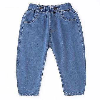 Jeans broek, losse elastische taille broek