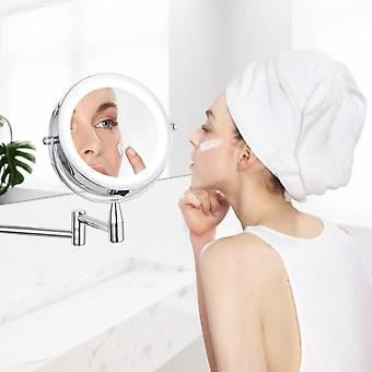 Magnification Wall Mounted Adjustable Makeup Mirror
