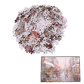 1000 Pcs Puzzles for Kids Adult Paris Flower Street Jigsaw Puzzle