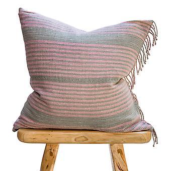 Handmade Stripped Cotton Pillow