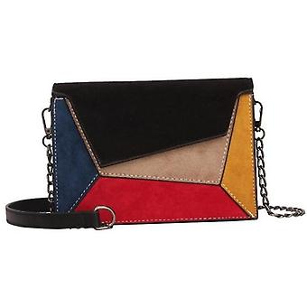 Patchwork Crossbody Bags/women Small Chains Strap Shoulder Bag