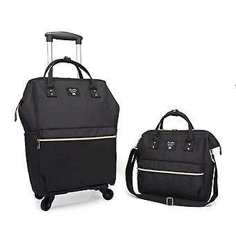Carrello bagagli rotolanti su ruote, valigie con borsa