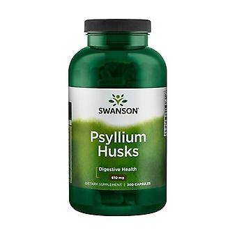 Enveloppes de psyllium premium 610 mg 300 capsules de 610mg