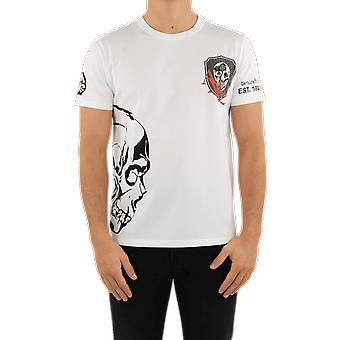 אלכסנדר מקווין חולצת טריקו גולגולת לבן 650423QQZ65900 למעלה
