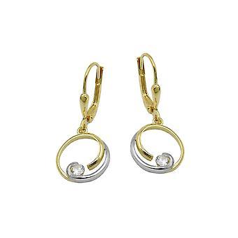 Leverback Earrings Zirconia 9k Gold