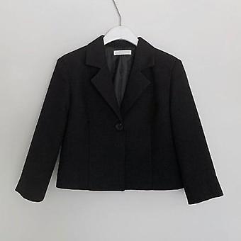 Blazer & Nederdel Dragter, Fuld ærme kort Blazer Coat + Slim High Waist Nederdele,