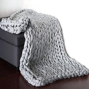 Neulottu paksu peitto lanka villa heittää sohva huopa