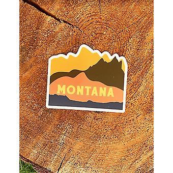 Pegatina de las montañas de Montana