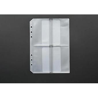 Loose Leaf Pvc Storage, Sticker Ticket Card Organizer Bag With Flap