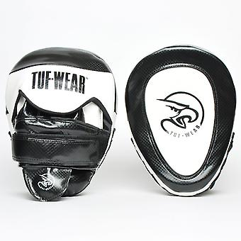 Tuf Wear Victor Gel Curved Hook & Jab Pad Black / White