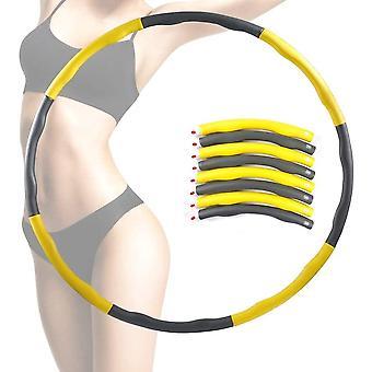 Geel gewogen hoelahoep abdominale oefening fitness core strength hoola
