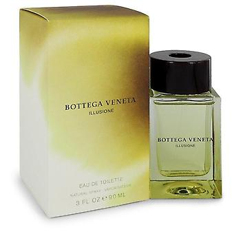 Bottega Veneta Illusione Eau de Toilette Spray by Bottega Veneta 3 oz Eau de Toilette Spray