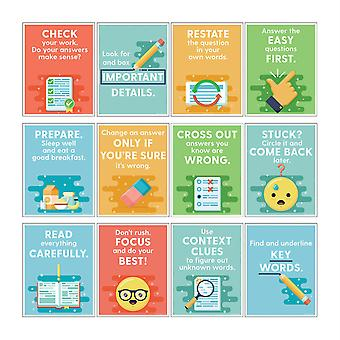Mini Posters: Test-Taking Strategies Poster Set, Grade 2-6, 12 Pieces