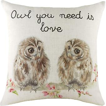 Evans Lichfield Hedgerow Owl Cushion Cover